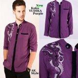 Jual Cepat Ak Yudika Purple Kombinasi Bordir Akiko Fashion