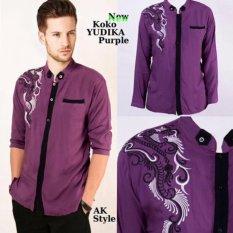 Jual Ak Yudika Purple Kombinasi Bordir Akiko Fashion Ori