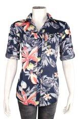 Review Ako Jeans Short Sleeve Shirt Caca Flower 14 4240
