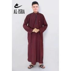 Katalog Al Isra Jubah Africani Pakaian Muslim Pria Maroon Terbaru