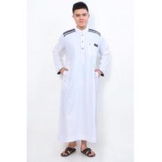 Al-Isra Jubah Cordova Pakaian Gamis Pria Muslim (Putih)