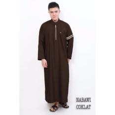 Al-Isra Nabawi Jubah Gamis Pakaian Muslim Pria (Coklat Kopi)