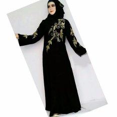 Harga Al Khatib Abaya Athuni Jetblack Saudi Black Al Khatib Online