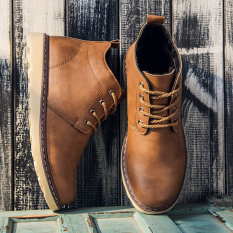 Ala Inggris Pergelangan Kaki Tinggi Perkakas Boots Pendek Dr. Martens (71430 Kuning) sepatu pria sepatu safety sepatu boots pria