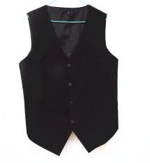 Ala Inggris Tarian Latin Ballroom Baju Pertunjukan Rompi Rompi Rompi (Hitam)