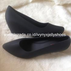 Aladin Jelly Shoes Wedges - Warna Hitam