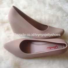 Aladin Jelly Shoes Wedges Warna Mocca Oem Diskon 40
