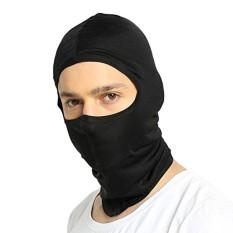 ALASKA BEAR - Natural Silk Balaclava Face Mask for Cold Weather~ Unisex(Medium-Black)