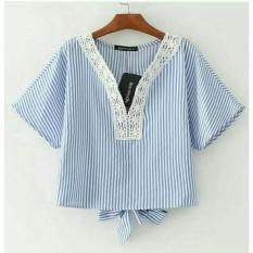 Alasxyashop Baju Atasan Wanita Ovie / Baju Wanita / Tumblr Tee / Baju Sabrina / Blouse