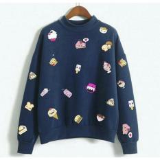 Harga Alasxyashop Baju Sweater Wanita Lengan Panjang Baju Hangat T Shirt Sweater Wanita Pakaian Hangat Tumble Tee Terbaru