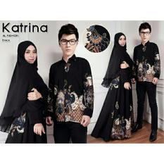 ALB  Couple Syari Batik Katrina- Hitam - Couple Suami Istri