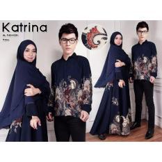 ALB Couple Syari Batik Katrina - Navy - Couple Suami Istri