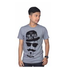 Aleganza New Item T-Shirt Baju Kaos Distro Pria Dknz 518 [Abu-abu]
