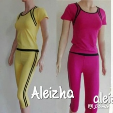 Aleizha Baju Senam Ss 3/4 Pink