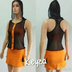 Aleizha Set Baju Senam Komb Tile Hoodie - Orange