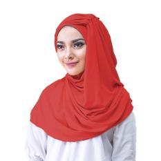 Alesya Hijab Jilbab Instan - [Warna Merah]