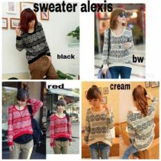 [Alexis RO] Sweater Wanita Rajut Var Color