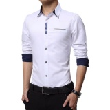 Iklan Algren Style Kemeja Pria Crown Lengan Panjang Putih Slimfit Casual Polos
