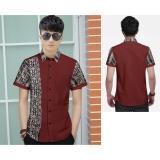 Harga Algren Style Kemeja Pria Dios Combi Batik Maroon Tipe02 Algren Online