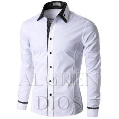 Algren Baju Hem Kemeja Pria Dios lengan panjang - Putih / Hitam / Abu / Maroon / Slim fit / Casual / Polos / Kerja / Kantor / Katun / Kem / Atasan / Pakaian