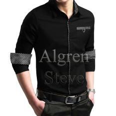 Harga Algren Style Kemeja Pria Steve Lengan Panjang Hitam Regular Fit Casual Polos Di Jawa Timur