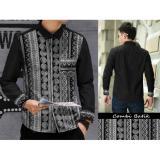 Review Algren Style Kemeja Rudy Batik Combi Hitam Indonesia