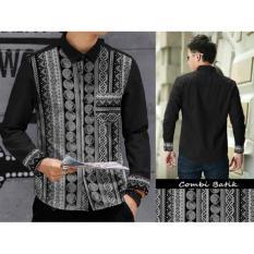 Spesifikasi Algren Style Kemeja Rudy Batik Combi Hitam Murah Berkualitas