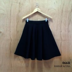 Beli Alicia Rok Flare Midi Rampel A Line Skirt Black Pake Kartu Kredit