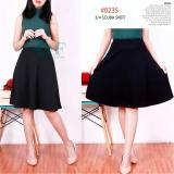 Alicia Rok Midi Hitam A Line Skirt Plain Black Diskon Indonesia