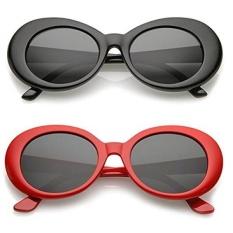 Alien Kacamata Hitam Lonjong Klasik Warna-warni Berwarna Netral Lensa 2 PC-Internasional