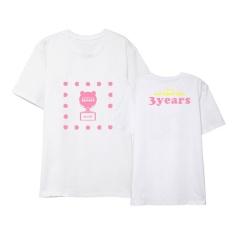 Apink Yang Pink 3 Tahun Album Shirts Hip Hop Kasual Longgar Pakaian T-shirt T-shirt Lengan Pendek Tops T-shirt DX523 (putih) -Intl
