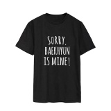Toko Exo Baekhyun Album Spoof Baju Pembuat Onar Katun Kasual Pakaian T Shirt T Shirt Lengan Pendek Tops T Shirt Dx467 Hitam Intl Oem Tiongkok