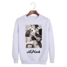 Korea Fashion APINK 3th Album REVOLUSI PINK Showcase Katun Hoodie Pakaian Pullover Sweatshirt Kemeja PT228 (Putih)-Intl