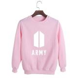 Situs Review Korea Fashion Bts Bangtan Boys 2017 Album Baru Amry Logo Katun Hoodies Pullover Sweatshirt Kemeja Pt554 Army Pink Intl