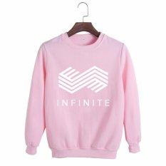 Beli Korea Fashion Infinite 2017 Salam Musim Album Katun Hoodie Pakaian Pullover Sweatshirt Kemeja Pt320 Pink Intl Murah Di Tiongkok