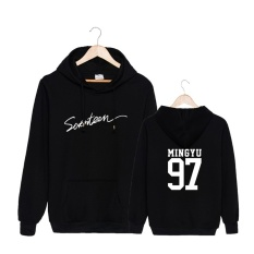 Spesifikasi Korea Fashion Tujuh Belas 2017 Album Konser 17 Katun Hoodie Hat Pakaian Pullover Sweatshirt Kemeja Pt557 Mingyu Hitam Intl Murah Berkualitas