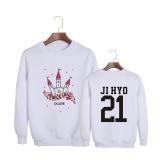 Beli Korea Fashion Dua Kali Twiceland Pembukaan Album Konser Ji Hyo Katun Hoodies Pullover Sweatshirt Kemeja Pt516 Jihyo Putih Intl Baru
