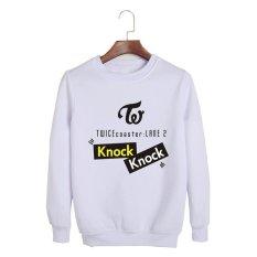 Korea Dua Kali Mini 3th Album Coaster Lane 2 Knock Katun hoodie Pakaian Pullover Sweatshirt Kemeja Pt375 (putih)-Intl