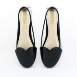 Alivelovearts Amore Flat Shoes Hitam Asli