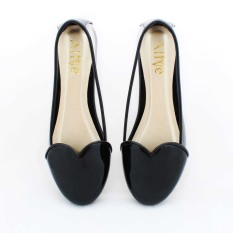 Beli Alivelovearts Amore Flat Shoes Hitam Online Murah