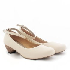 Jual Alivelovearts Balletwood Heels Cream Alive Asli