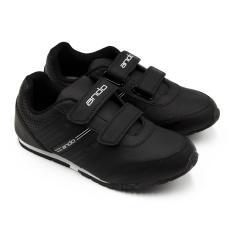 Jual Alldaysmart Ando Sepatu Sekolah Diva Light Velcro Ak Black White Size 29 32 Alldaysmart Ori