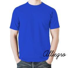 Alliegro Kaos Pria Polos Distro Premium - Kaos Terbaru Keren Murah Tumblr Tee Dewasa Biru Benhur