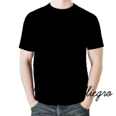 Alliegro Kaos Pria Polos Distro Premium - Kaos Terbaru Keren Murah Tumblr Tee Dewasa Hitam