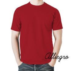 Alliegro Kaos Pria Polos Distro Premium - Kaos Terbaru Keren Murah Tumblr Tee Dewasa Merah Maroon