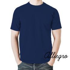 Alliegro Kaos Pria Polos Distro Premium - Kaos Terbaru Keren Murah Tumblr Tee Dewasa Navy