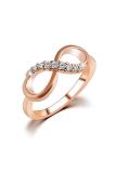 Spesifikasi Paduan Zirkon Infinity Berlapis Kristal Cincin Emas Yang Bagus Dan Murah