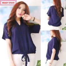 Spesifikasi Alona Baju Atasan Wanita Baju Casual Wanita Blouse Fashion Baju Wanita Bahan Katun Rayon Hitam Lengkap