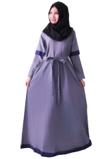Alona Baju Hijab Pashmina Gamis Fashion Katun Ima - Abu Tua