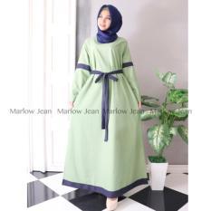 Alona Baju Hijab Pashmina Gamis Fashion Katun Ima - Hijau Soft